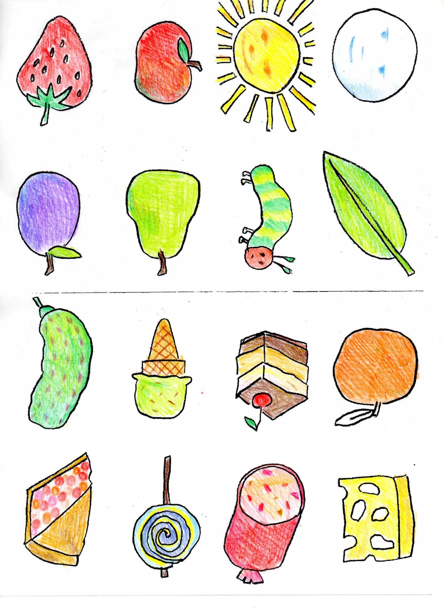 Hungry Caterpillar Food Clipart
