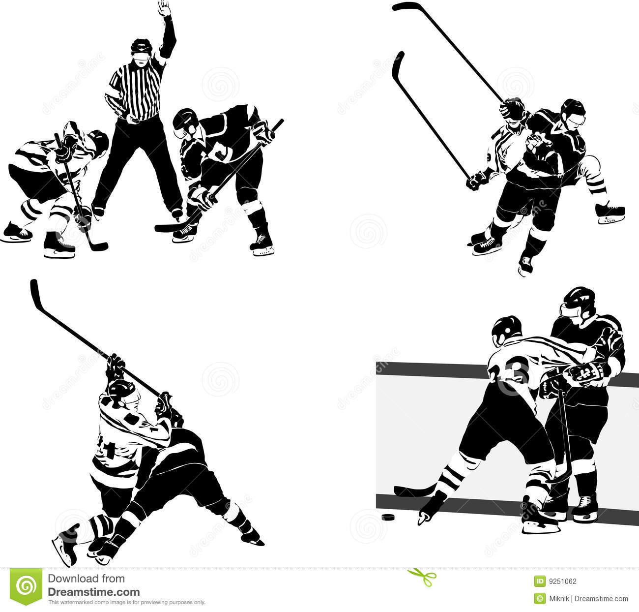 Ice Hockey Team Clipart