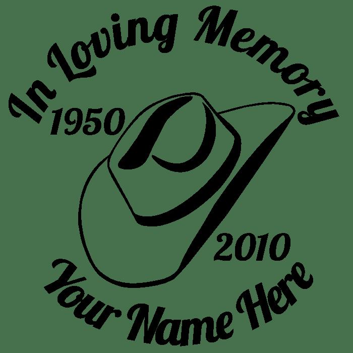 In Loving Memory Praying Hands Decal