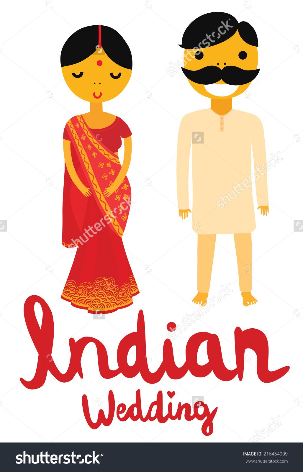 hight resolution of indian bride groom clipart 47
