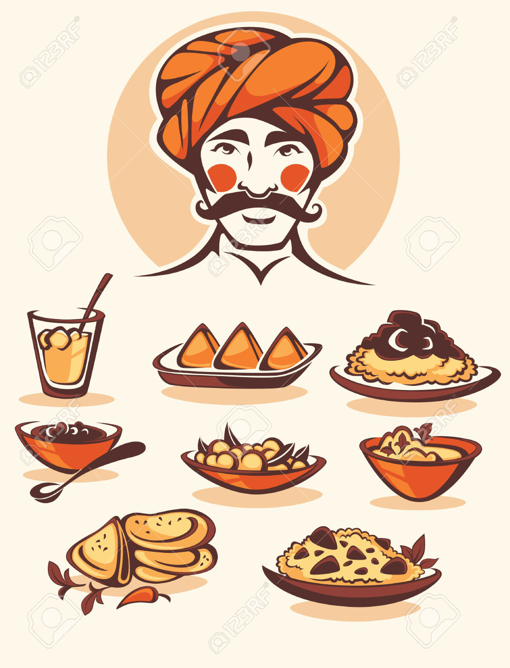 medium resolution of 4 550 indian food cliparts stock vector and royalty free indian
