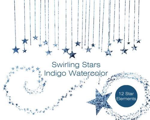 small resolution of indigo blue watercolor star clipart commercial use clipart blue