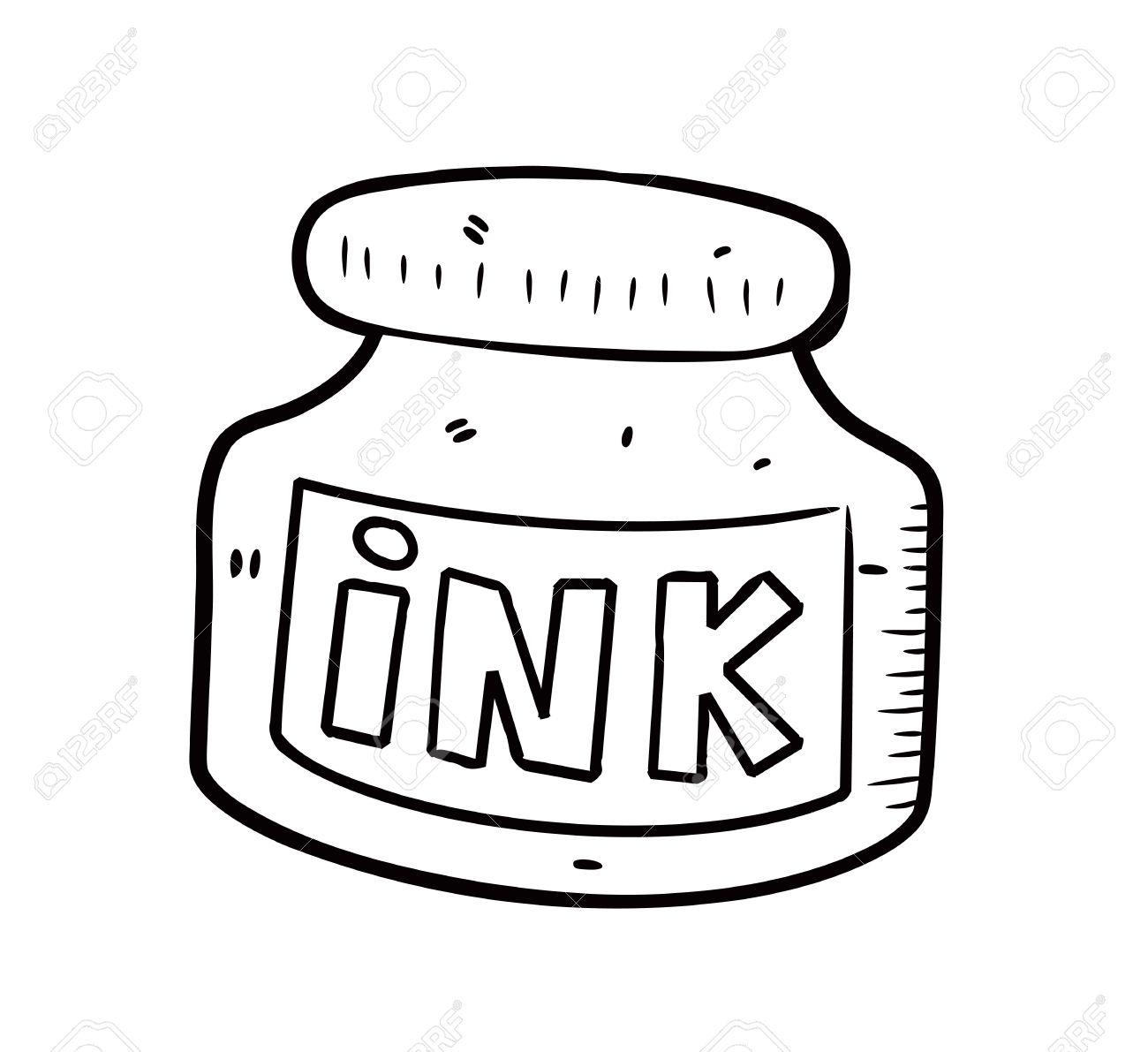 Ink Pot Clipart