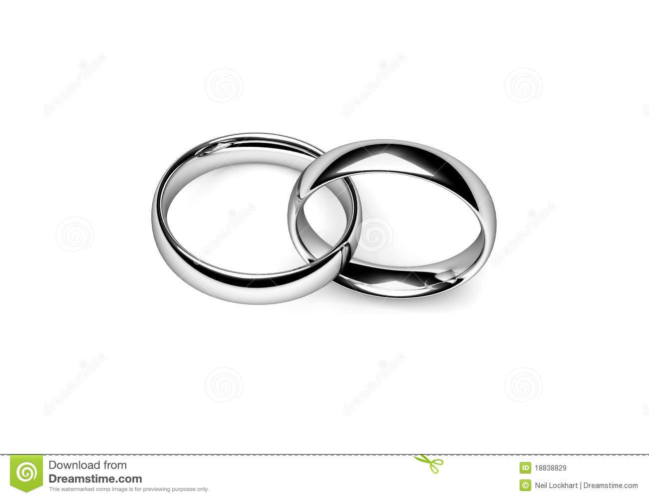 hight resolution of interlocking wedding rings