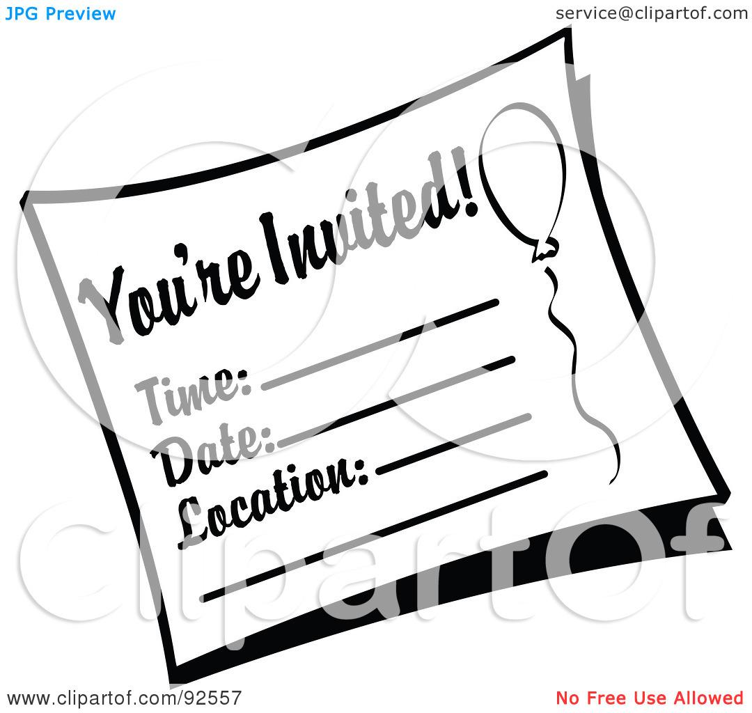 Invites Clipart