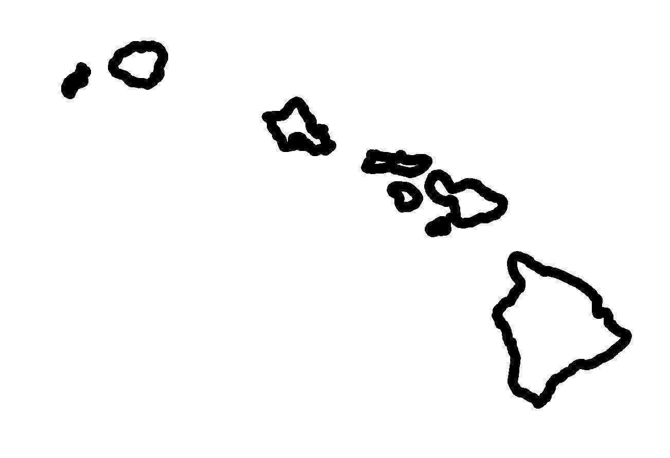 Island Of Hawaii Clipart