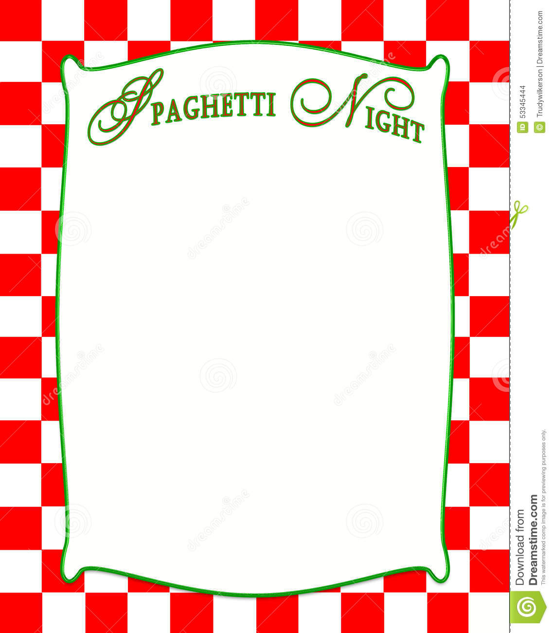 hight resolution of spaghetti night background in red checkered pattern stock