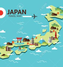 travel map clipart japan cliparts stock vector and royalty free  [ 1300 x 1053 Pixel ]