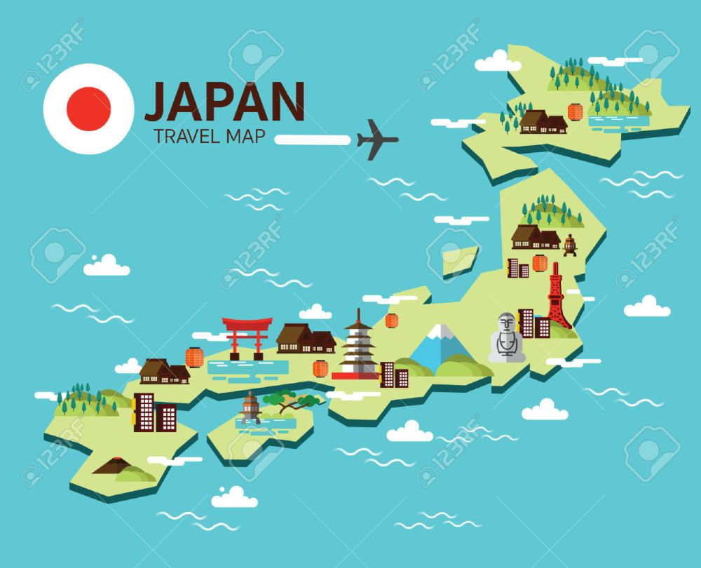 medium resolution of travel map clipart japan cliparts stock vector and royalty free
