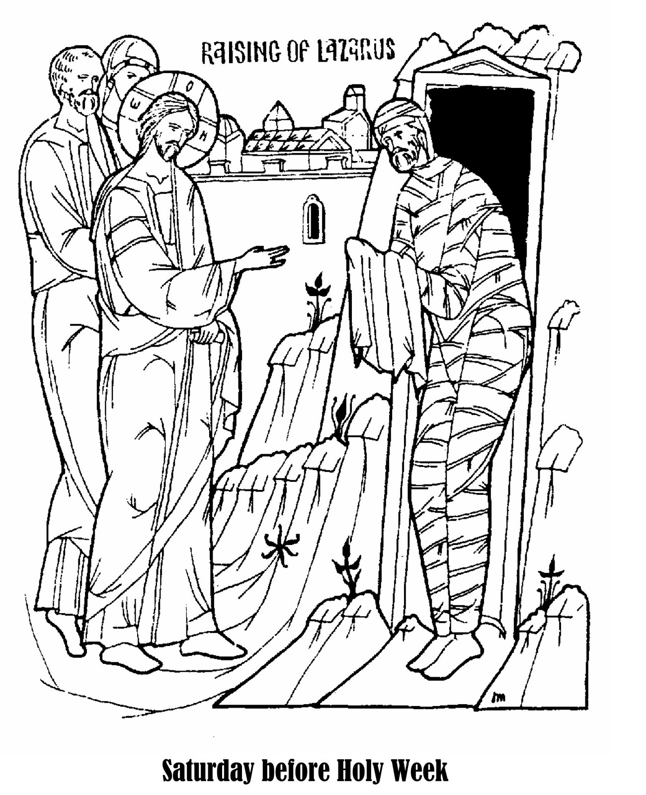 Jesus Raises Lazarus Clipart