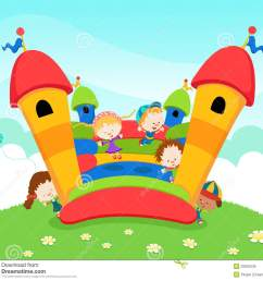 bounce house and slide clipart  [ 1300 x 1191 Pixel ]