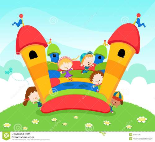 small resolution of bounce house and slide clipart