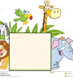 showing post media for cartoon jungle animal clip art borders  [ 1300 x 1071 Pixel ]