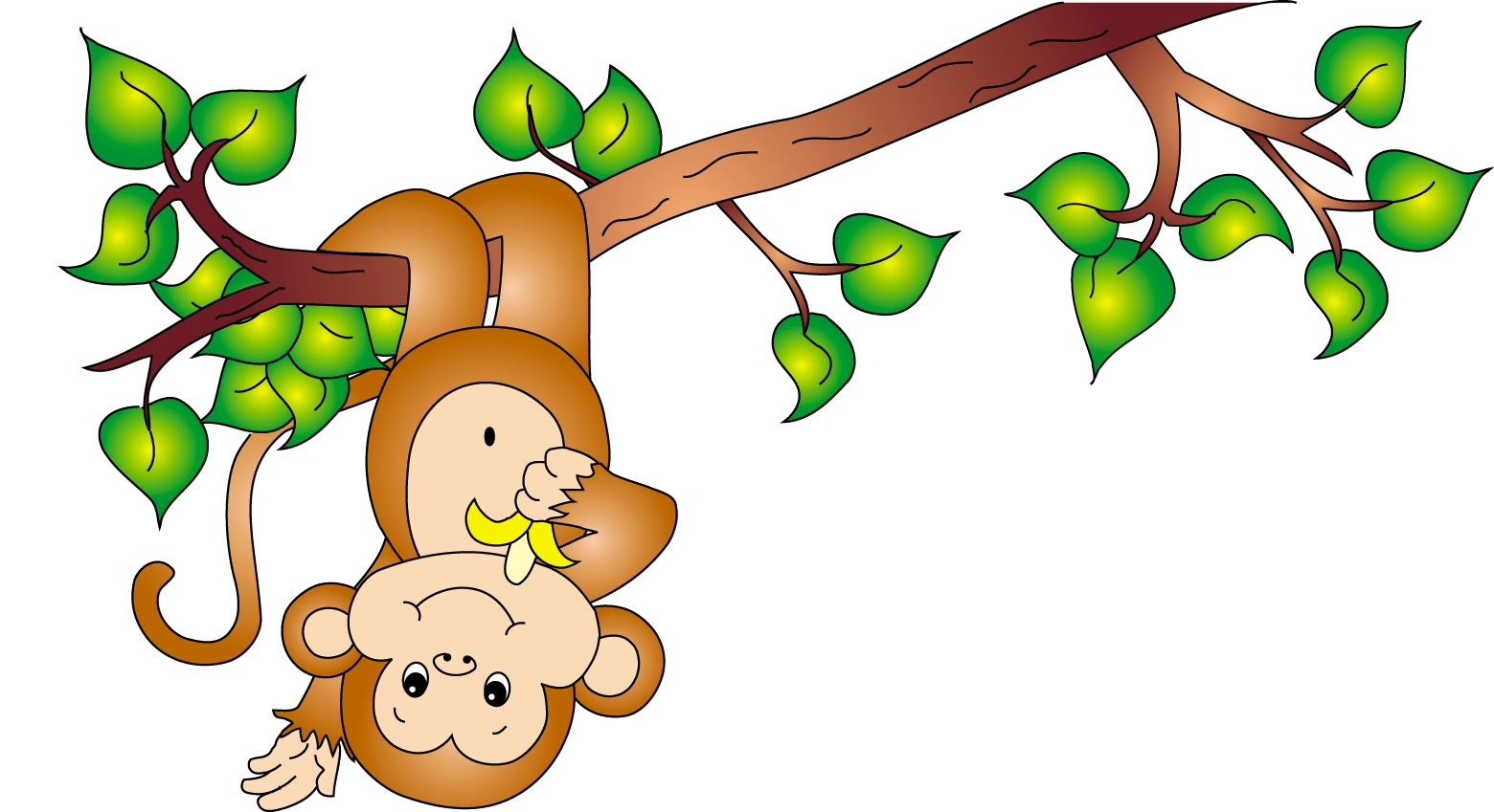 Monkeys And Bananas Cute Wallpaper Monkey People In Trees Clipart 20 Free Cliparts Download
