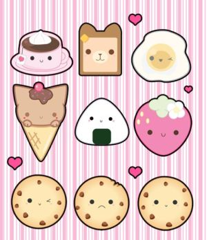 kawaii drawings clipart animal drawing ice cream draw cartoon kitty doodles stickers anime 2048 things clipground explore easy disegni chibi