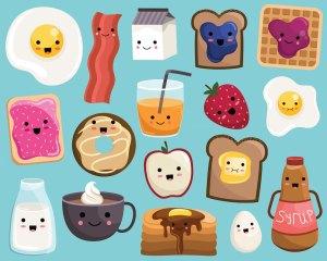 kawaii clipart breakfast clipground