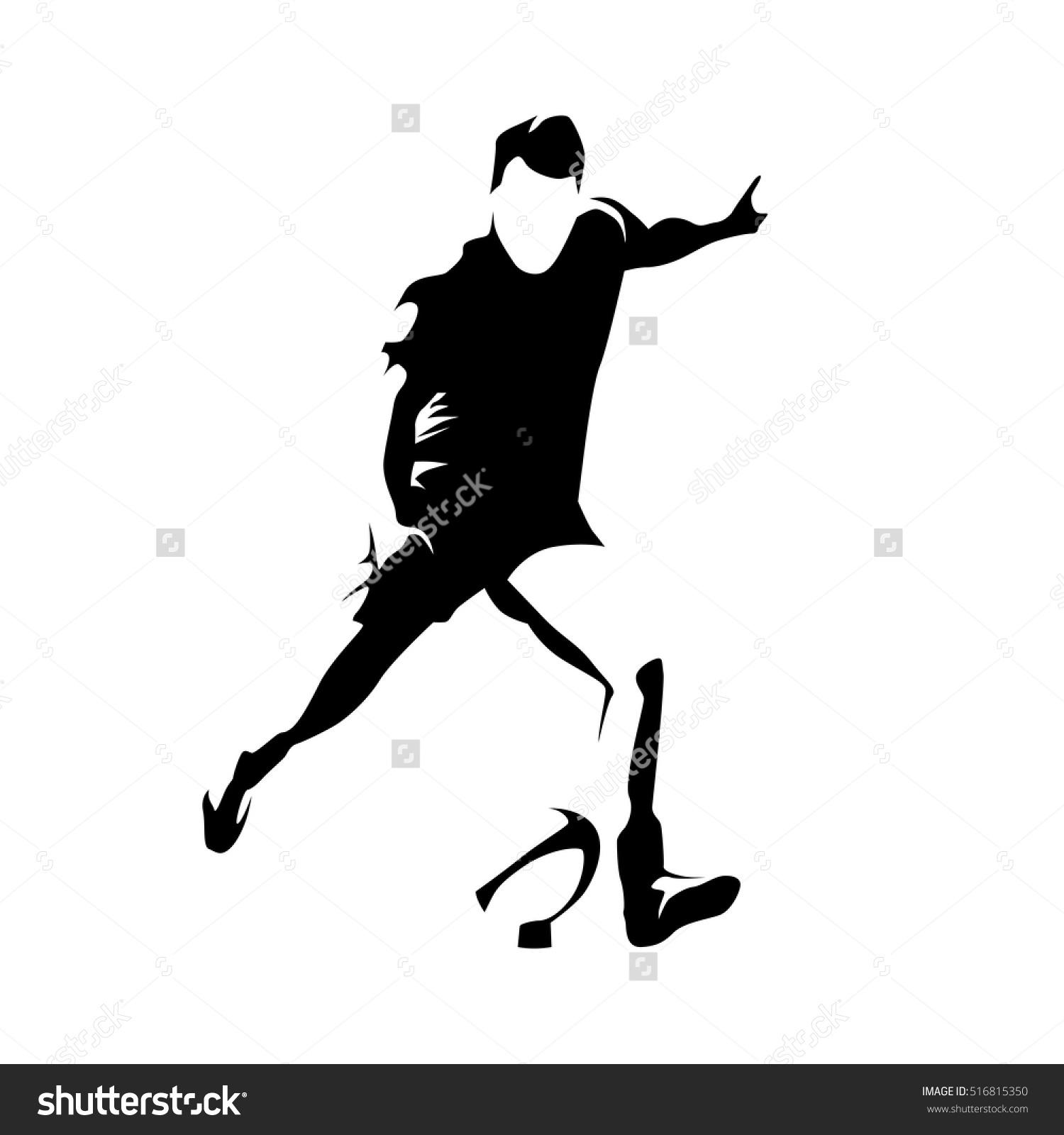 Kickball Team Silhouette Clipart