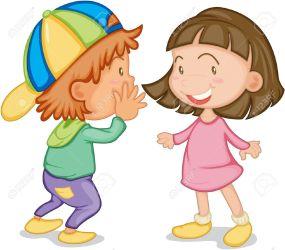 clipart talking children chatting speaking child illustration