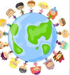 cartoon cute children holding hands vector royalty free stock  [ 1384 x 1300 Pixel ]