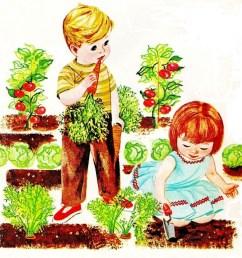 photos ofmunity garden clip art kids  [ 1023 x 992 Pixel ]