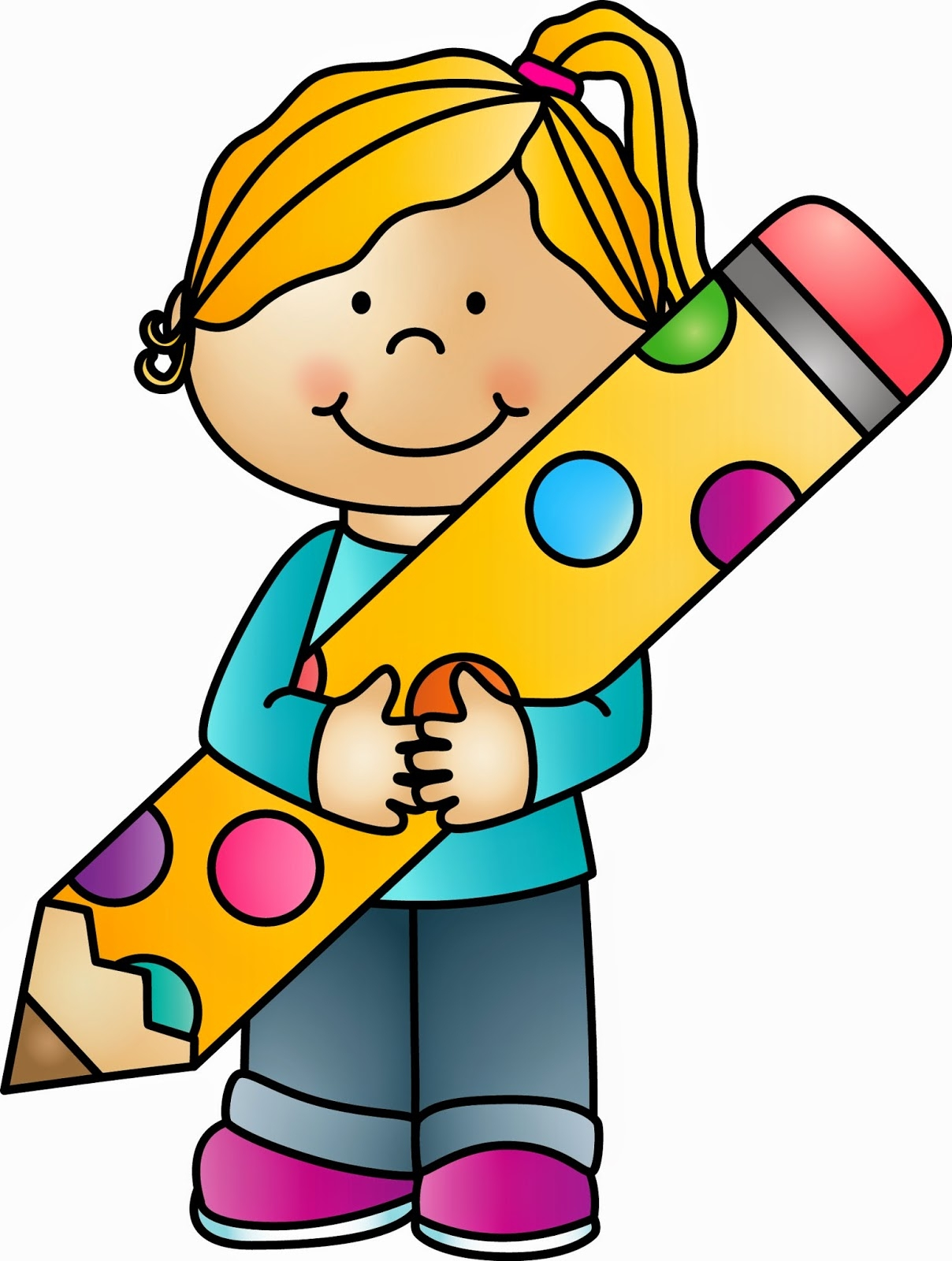 hight resolution of student with pencil clipart