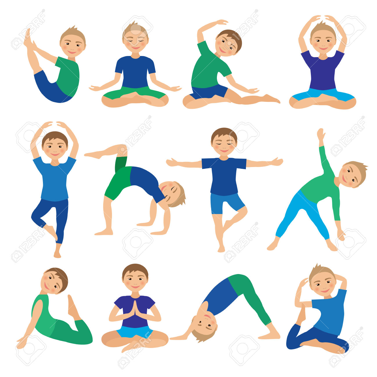 Kids Yoga Clipart 20 Free Cliparts