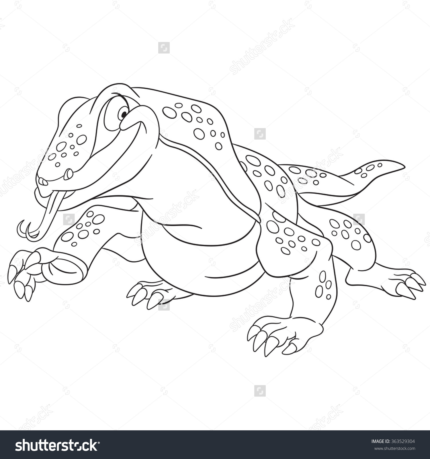 Komodo Dragon Head Clipart Black And White
