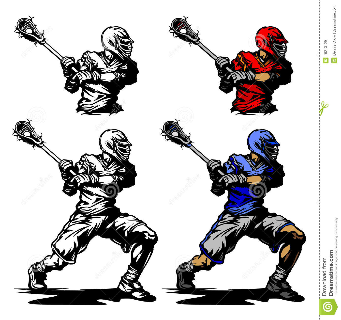 hight resolution of lacrosse player cradling ball