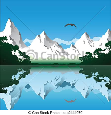Lake mountains clipart  Clipground
