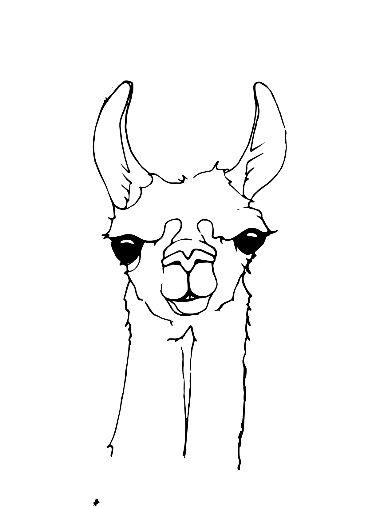 Cozy Llama Coloring Pages Coloring Page Leaping Llamas