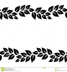 Clipart Leaf Border Black And White