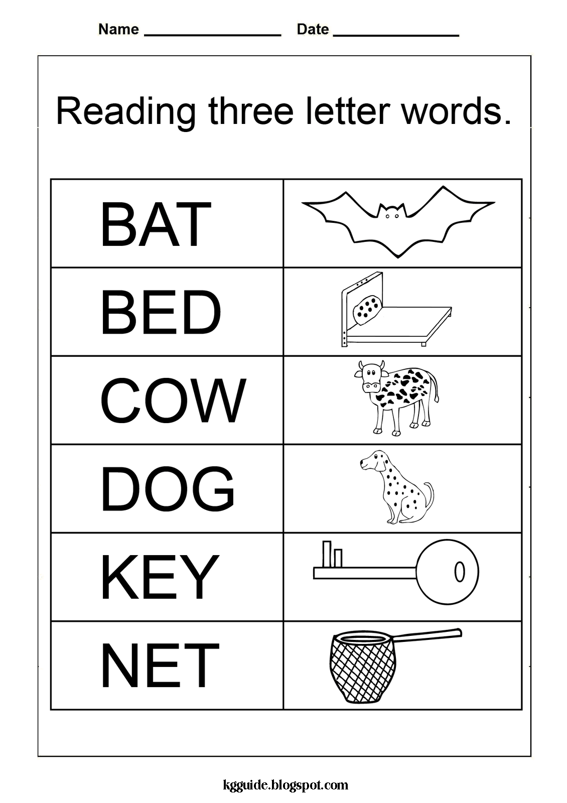 Letter Word Clipart