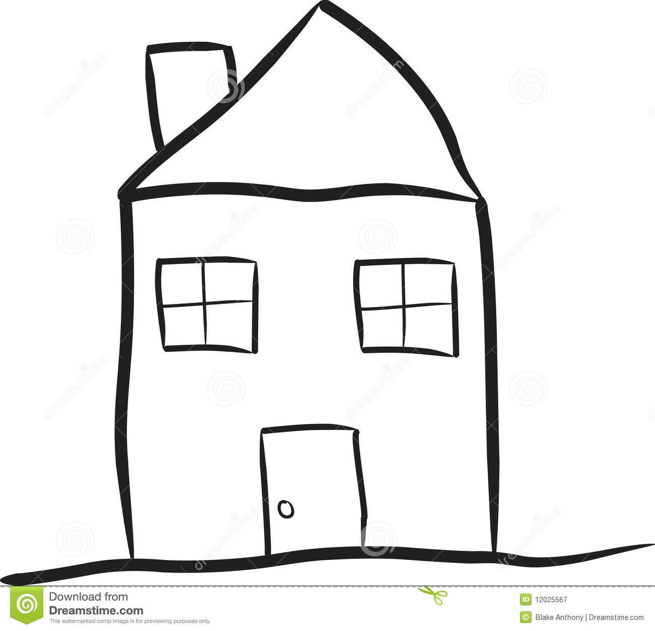 Line Drawing House Clipart