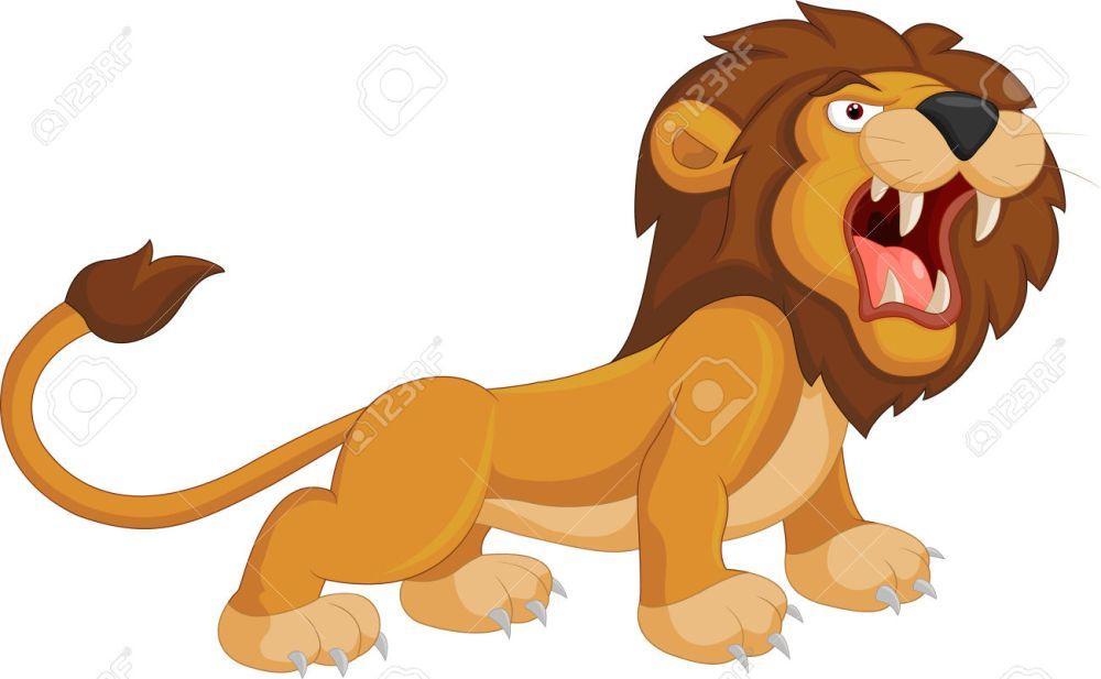 medium resolution of cartoon lion roaring royalty free cliparts vectors and stock