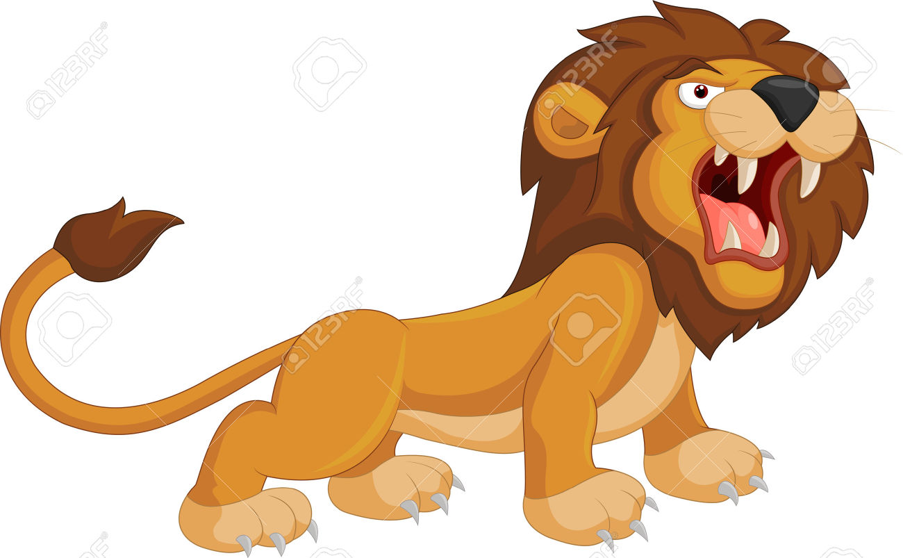 hight resolution of cartoon lion roaring royalty free cliparts vectors and stock