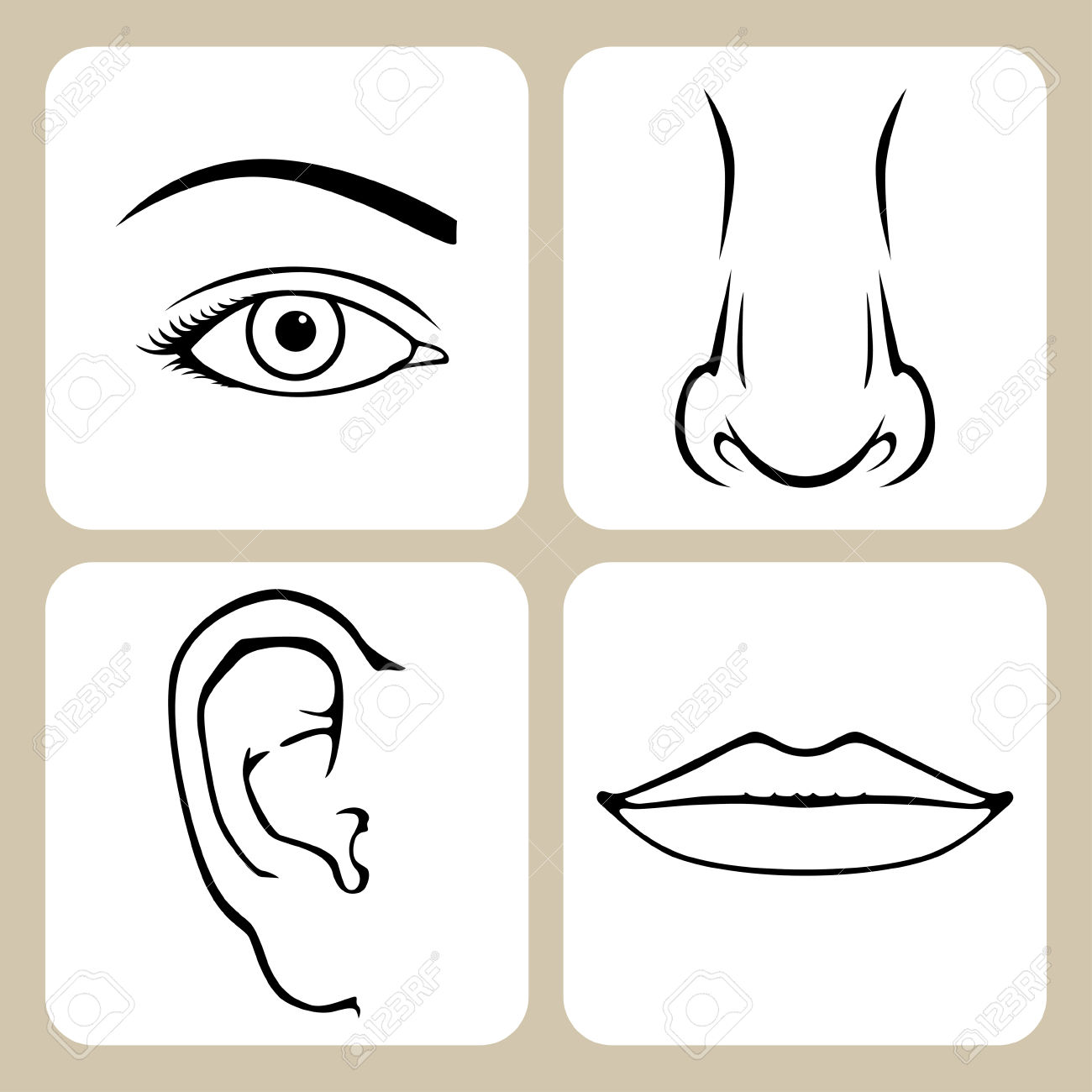 Lips Nose And Eye Clipart