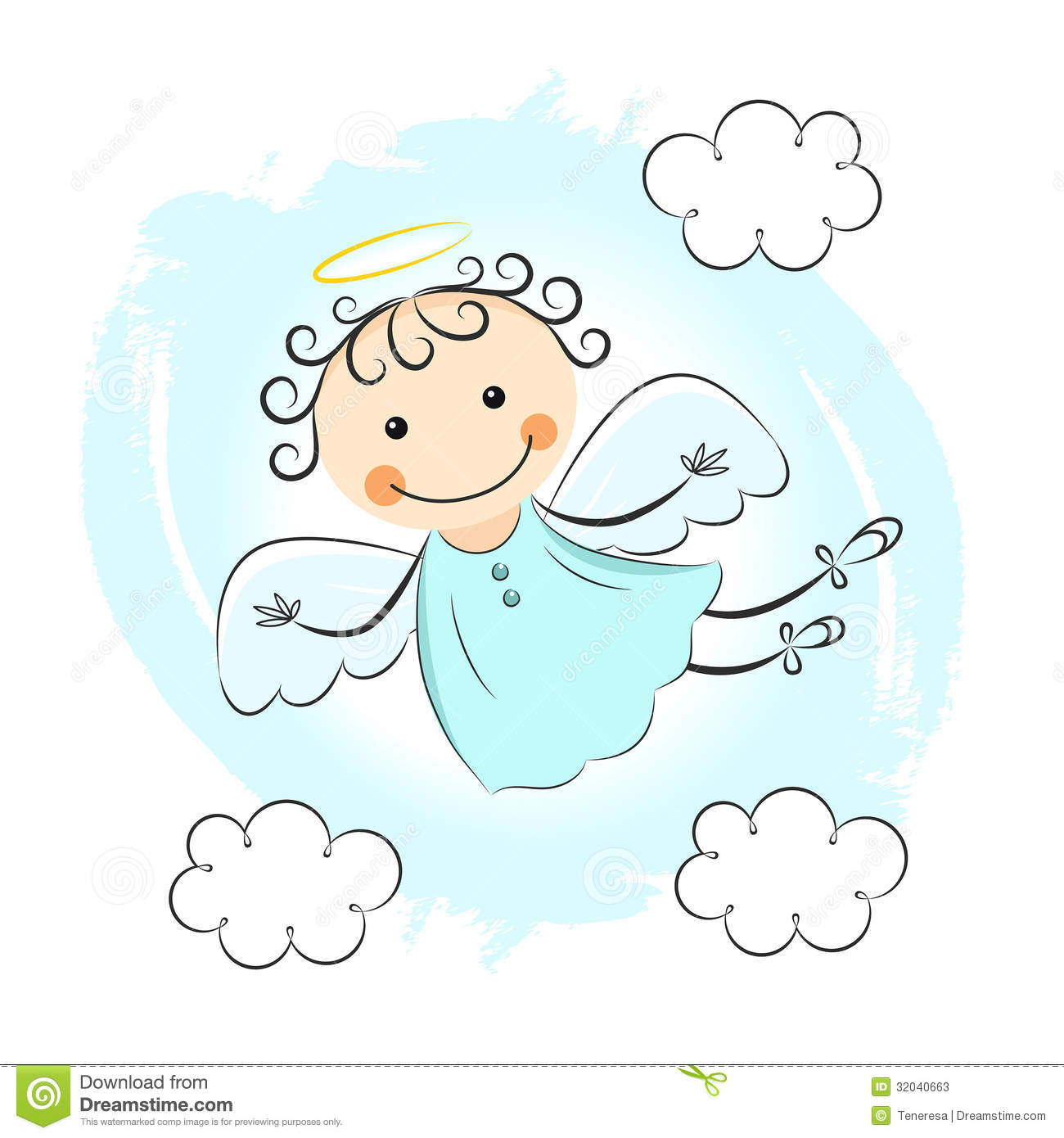 hight resolution of little angels clipart