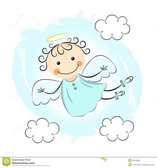 small resolution of little angels clipart