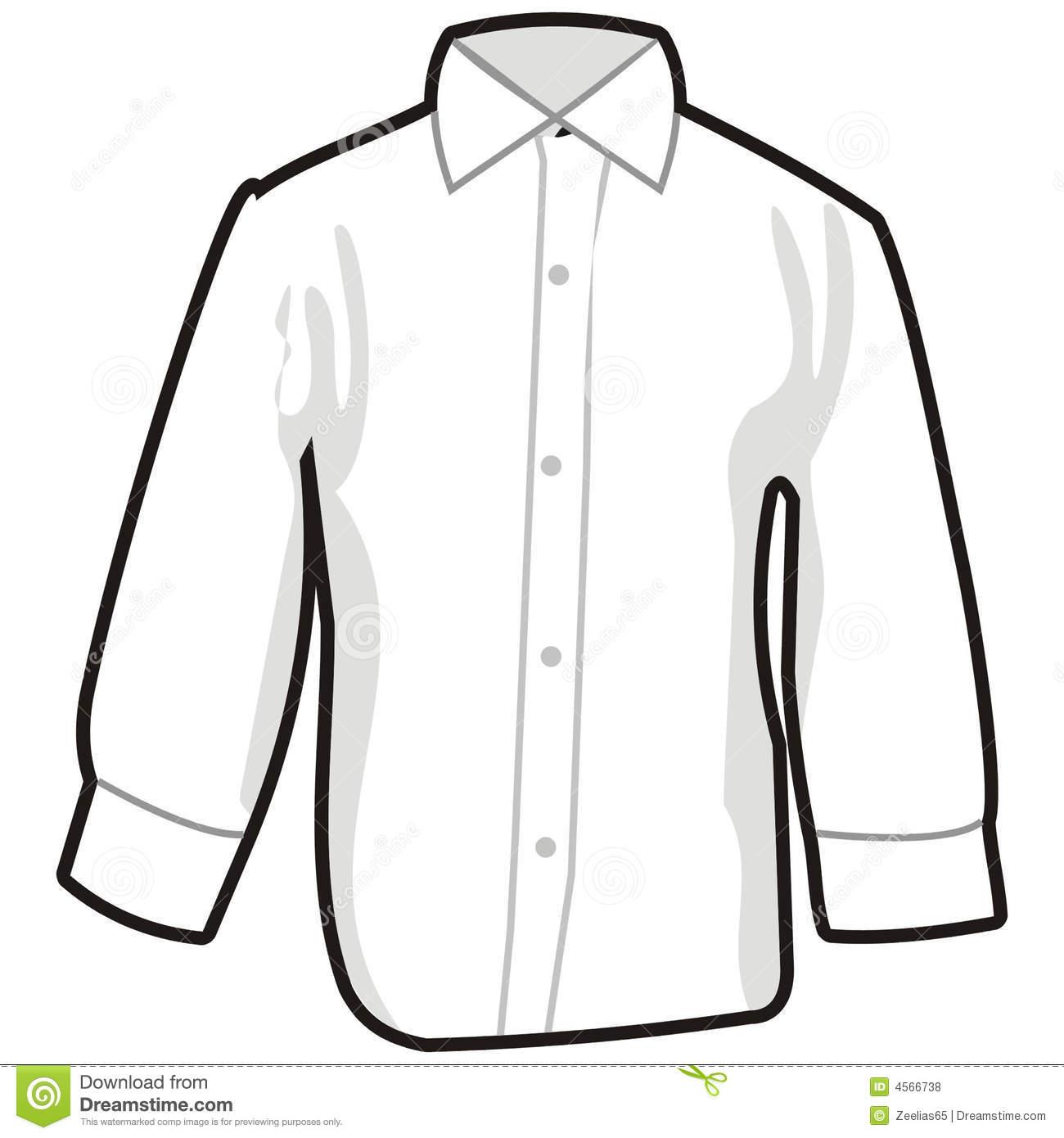 Collared Dress Shirt Clipart