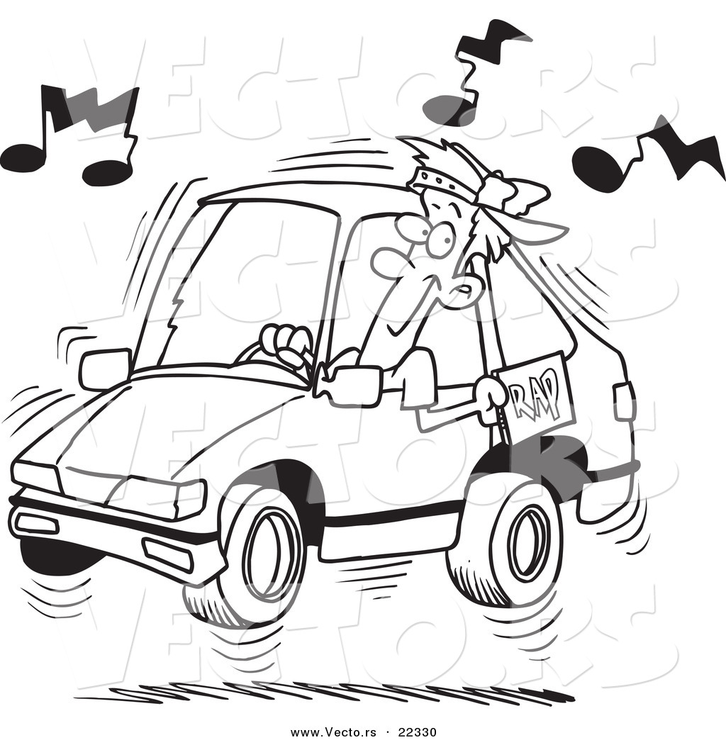 Loud Car Radio Clipart