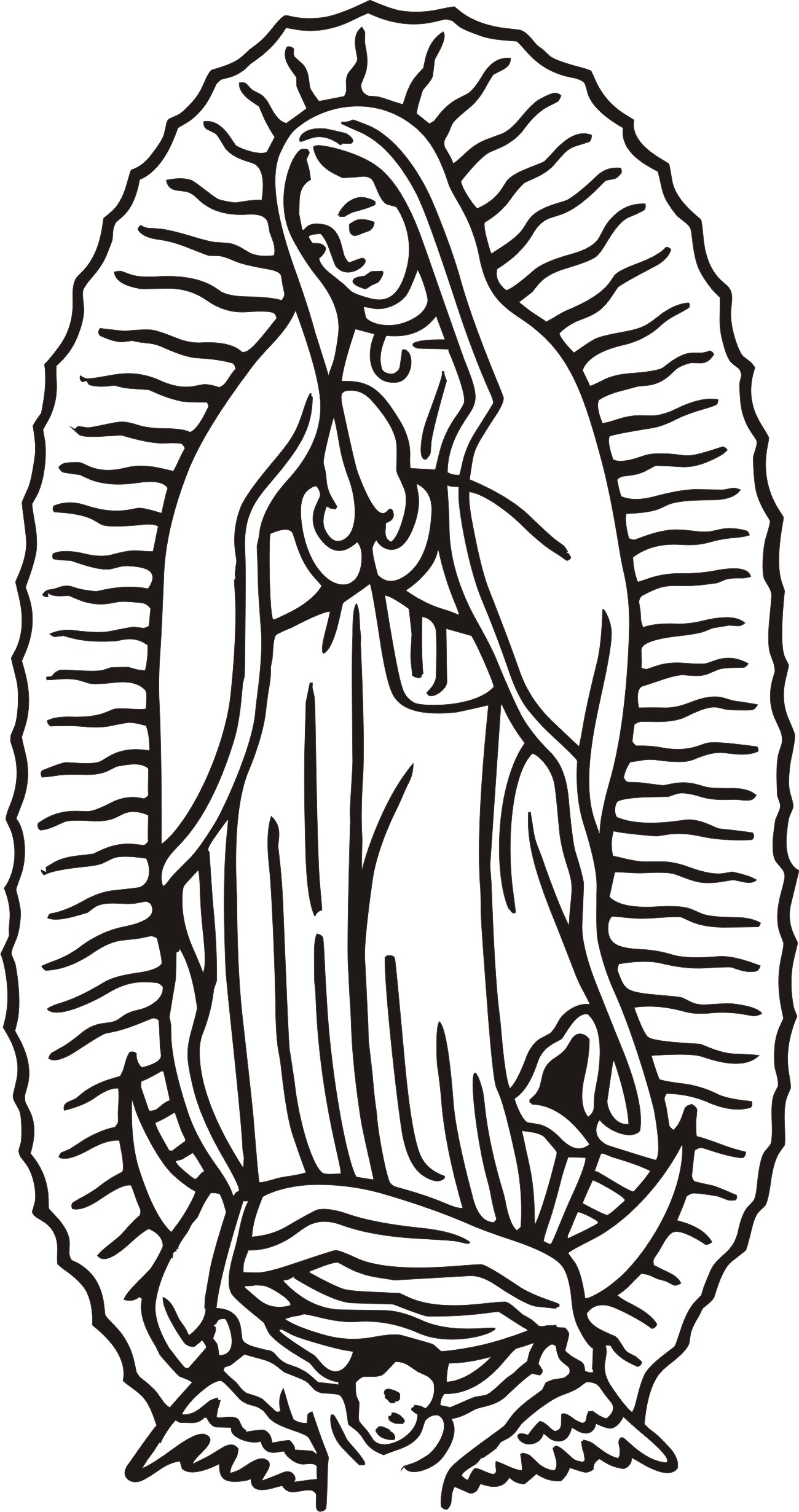 Our Lady Clipart