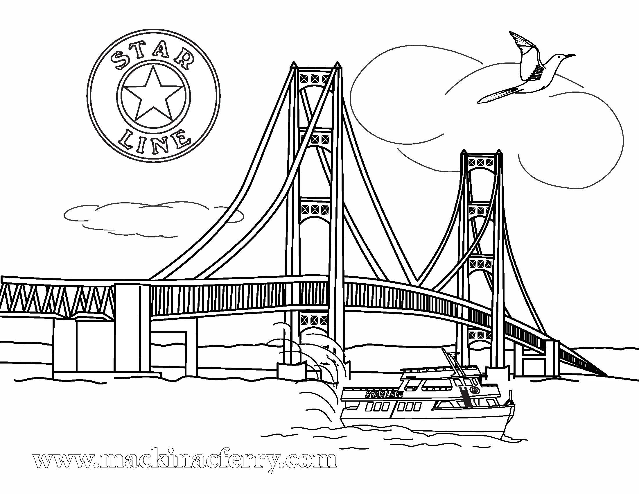 Mackinac Bridge Clipart
