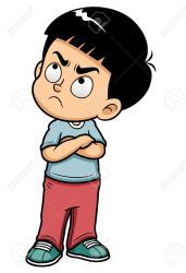 clipart student mad angry boy teenage illustration cliparts clipground vector