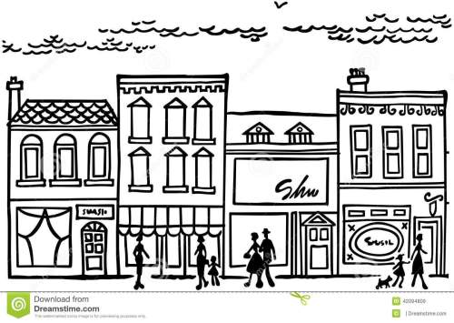 small resolution of small town main street