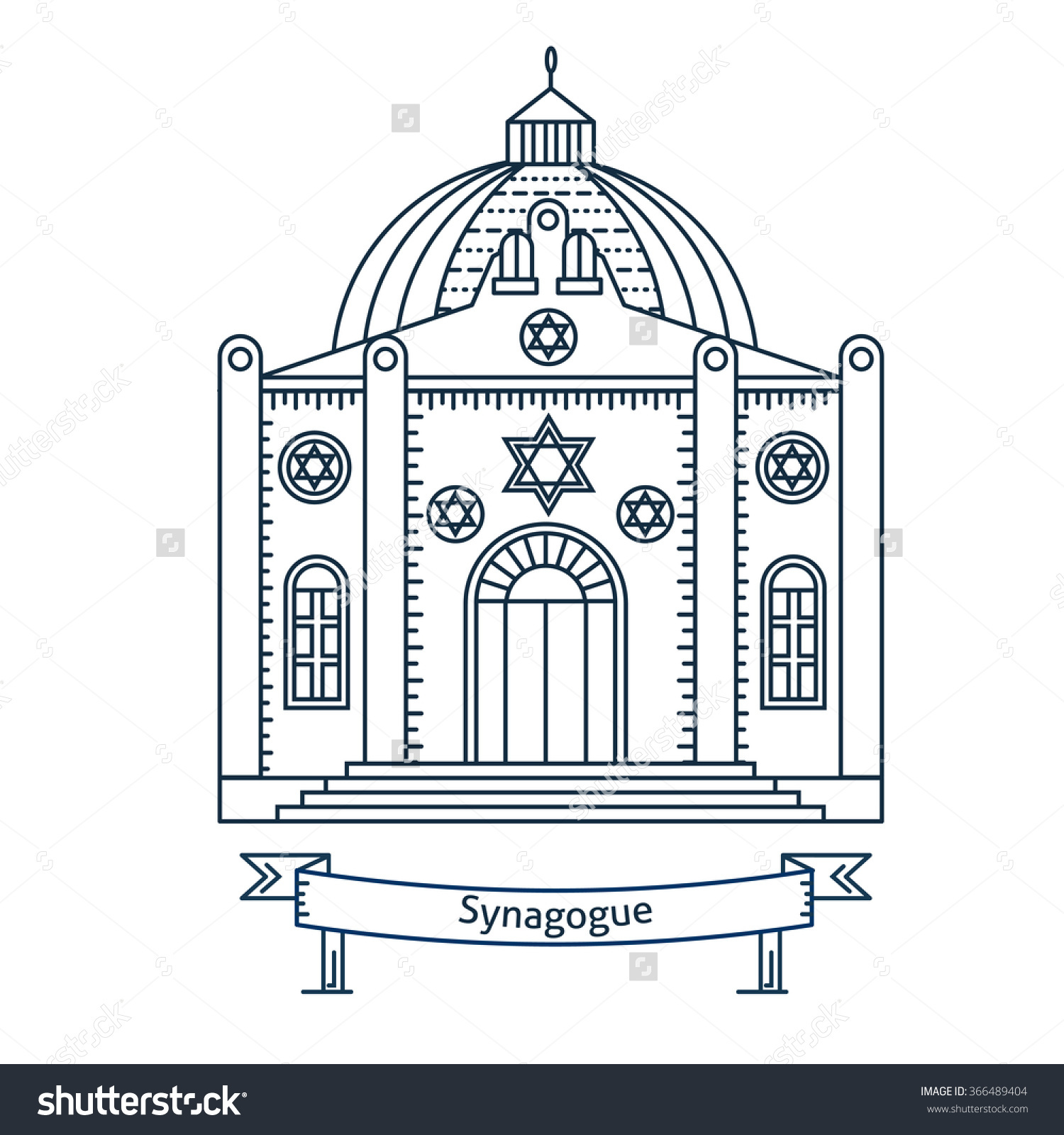 New Synagogue Clipart