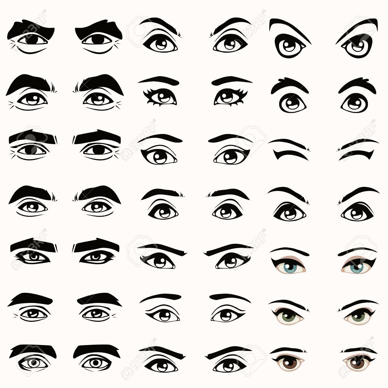 Male Eye Clipart