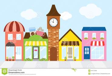 clipart shopping mall street center illustration centre strip bags clipground vector preview