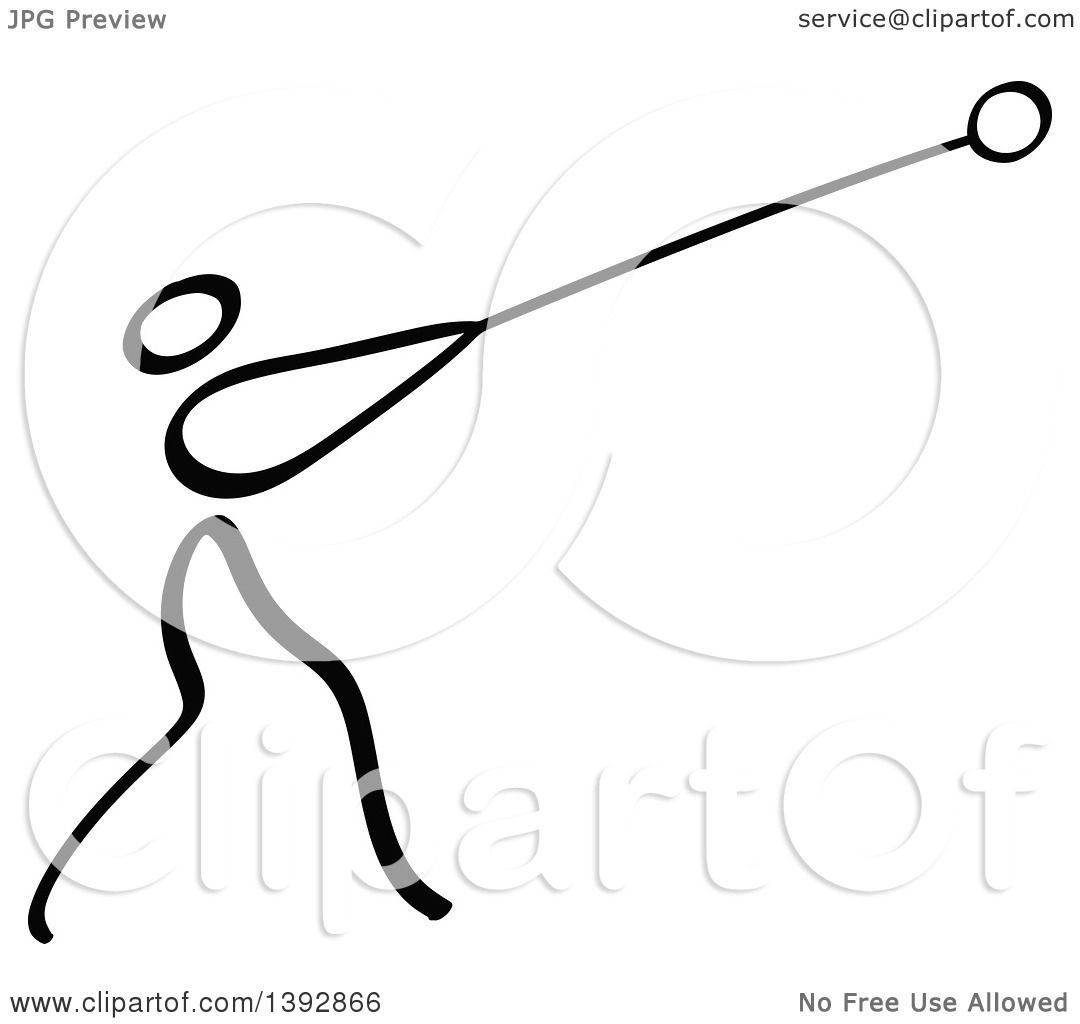 hight resolution of clipart of a black and white track and field stick man athlete