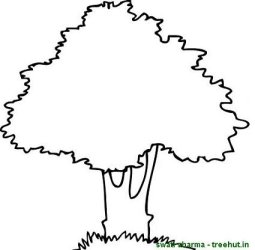 tree mango clipart coloring pages trees cliparts treee clipground treehut colouring swati