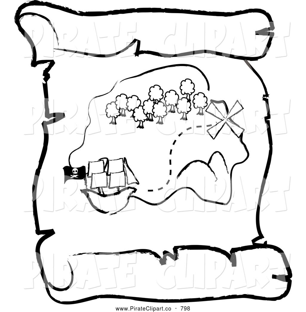 Treasure Map Clipart Silhouette